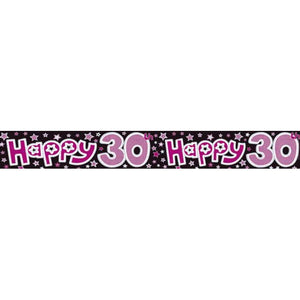 Happy 30th Holographic Banners