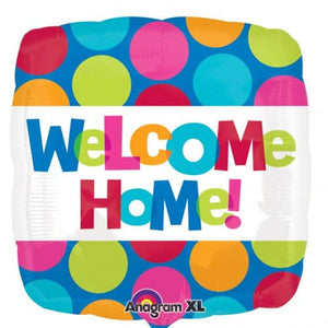 Welcome Home Colourful Dots Foil Balloon