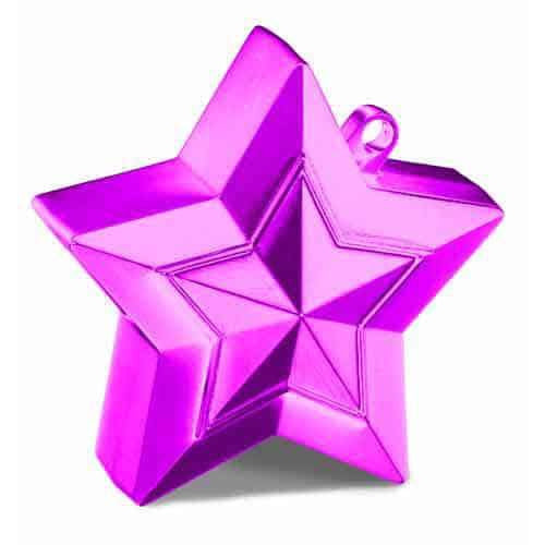 Magenta Balloon Star Weights