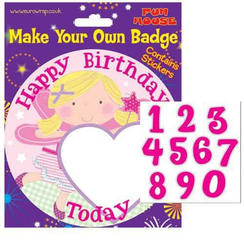 Make Your Own Badge Happy Birthday Princess