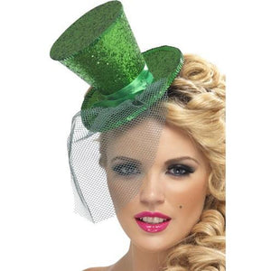 Mini Green Glitter Top Hat