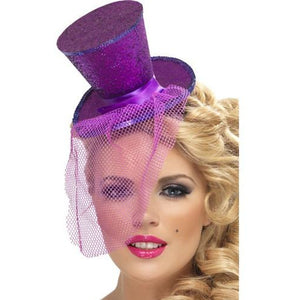 Mini Purple Glitter Top Hat