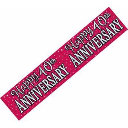 Ruby Anniversary Wide Banners