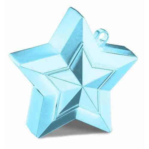 Pearl Light Blue Balloon Star Weight
