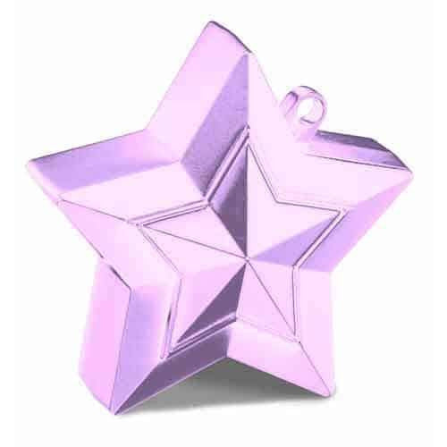 Pearl Pink Balloon Star Weights