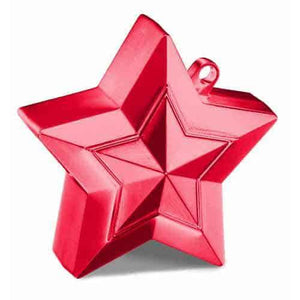 Red Balloon Star Weights - mypartymonsterstore