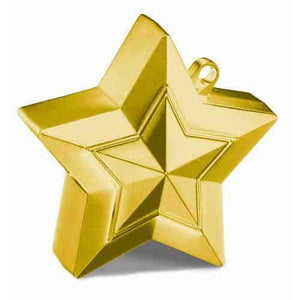 Gold Balloon Star Weights