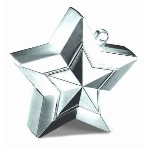 Silver Ballloon Star Weights