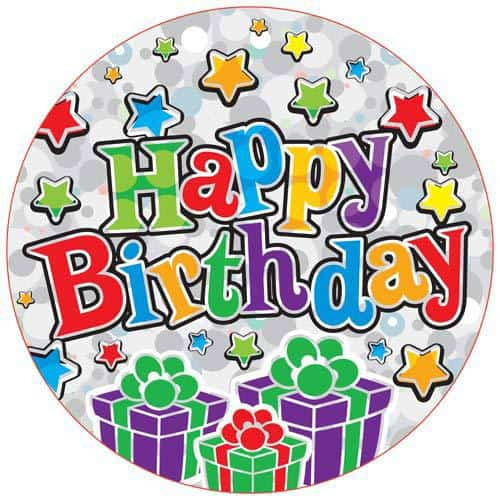 Happy Birthday Presents Party Badge