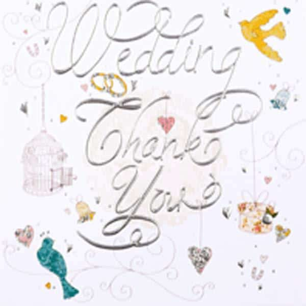 Wedding Thank You Invitations x6
