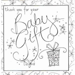 Thank You For Your Baby Gift Invitations x6 - mypartymonsterstore
