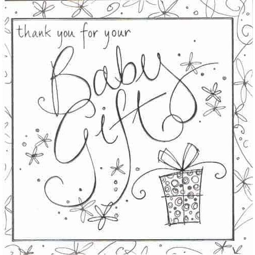 Thank You For Your Baby Gift Invitations x6
