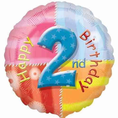Happy 2nd Birthday Foil Balloon