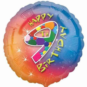 Happy 9th Birthday Foil Balloon
