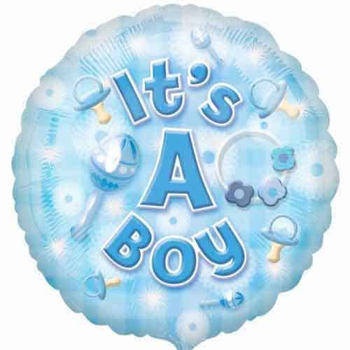 New Baby Boy Foil Balloon