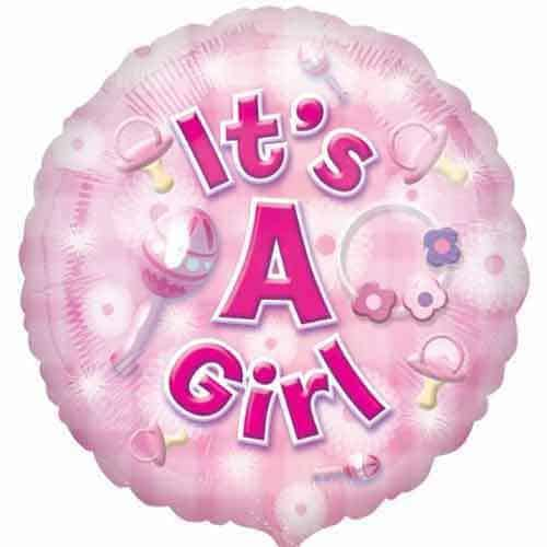 New Baby Girl Foil Balloon