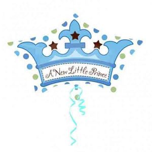 Little Prince Crown Foil Balloon - mypartymonsterstore