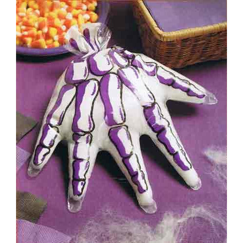 Skeleton Hand Shaped Treat Bags x12