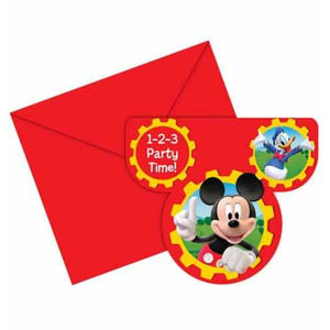 Mickey Mouse Club House Invitations x6