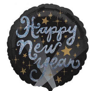 Elegant New Years Sparkles foil balloons - mypartymonsterstore