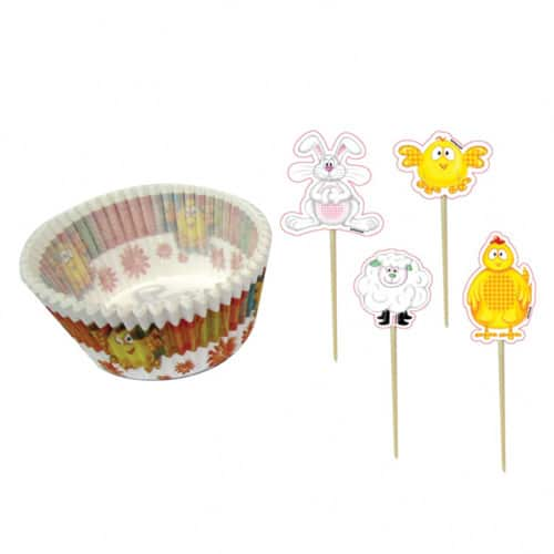 Easter Cupcake Cases And Picks