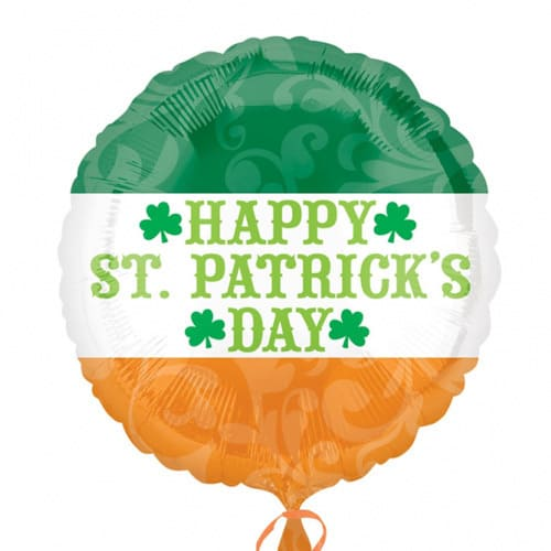 Happy St Patricks Day foil balloon