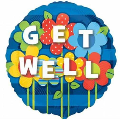 Get Well Garden Foil Balloon