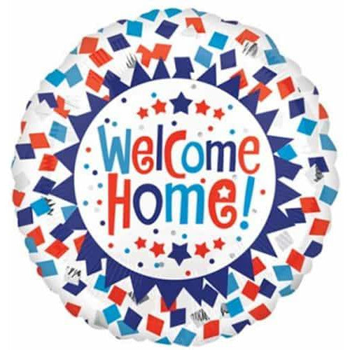 Welcome Home Confetti Foil Balloon