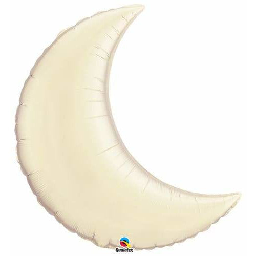 Pear Ivory Crescent Moon Foil Balloon