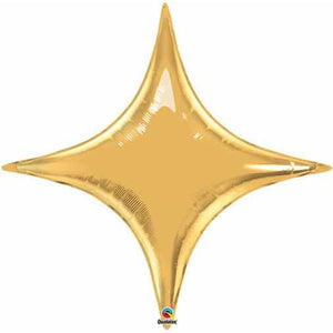 Metallic Gold Starpoint Foil Balloon - mypartymonsterstore