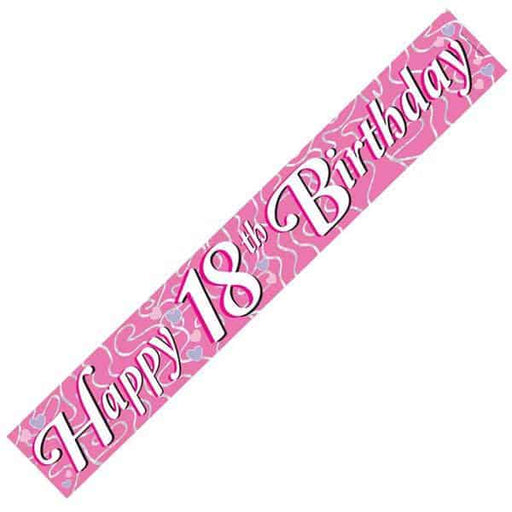 Happy 18th Birthday Pink Banners