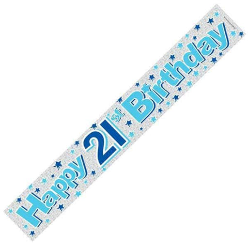 Happy 21st Birthday Blue Banners