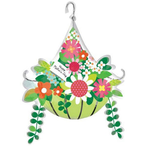 Mothers Day Hanging Basket Supershape Balloon - mypartymonsterstore