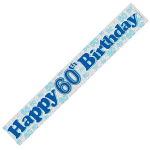 Happy 60th Birthday Blue Banners
