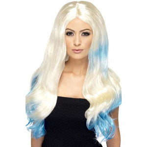 Dip Dye Blonde Wigs With Middle Parting