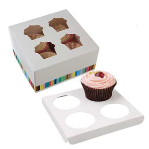 Four Cupcake Box - mypartymonsterstore