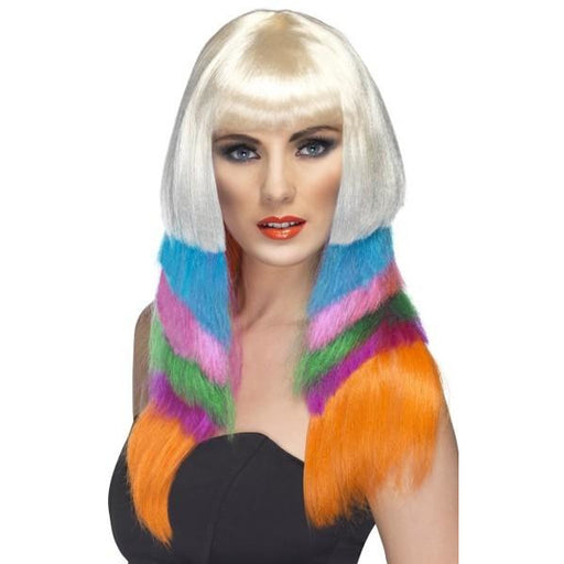 Neon Scarlet Layered Female Wigs