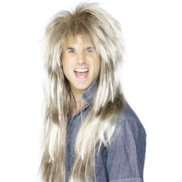 Mens 80s Blonde And Brown Mega Mullet Wigs