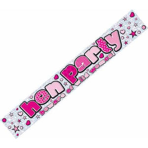 Hen Party Holographic Banners - mypartymonsterstore