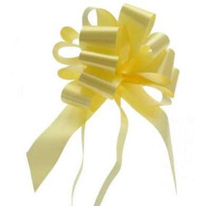 Pale Yellow 2 Inch Pull Bows x20 - mypartymonsterstore