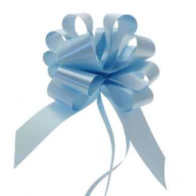 Light Blue 2 Inch Pull Bows x20