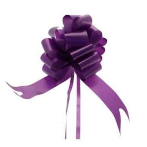 Purple 2 Inch Pull Bows x20 - mypartymonsterstore