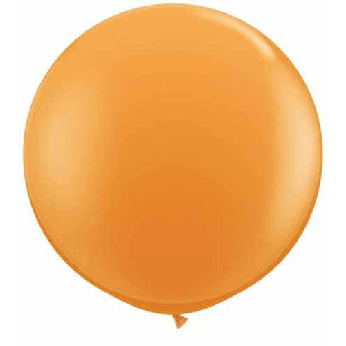 Orange Giant Latex Balloons x2