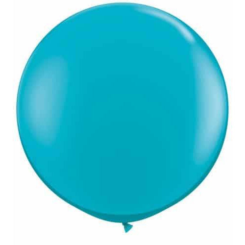 Tropical Teal Giant Latex Balloons x2
