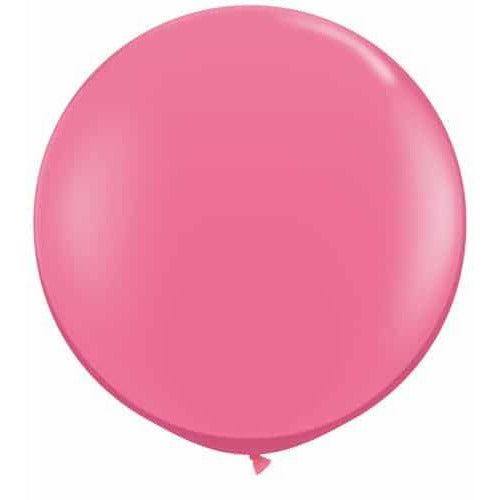 Rose Pink Giant Latex Balloons x2