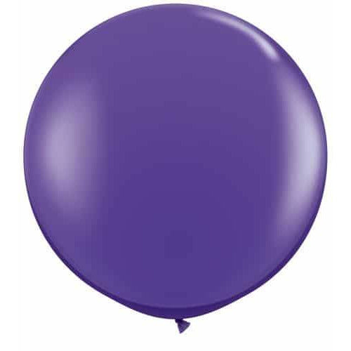 Purple Violet Giant Latex Balloons x2