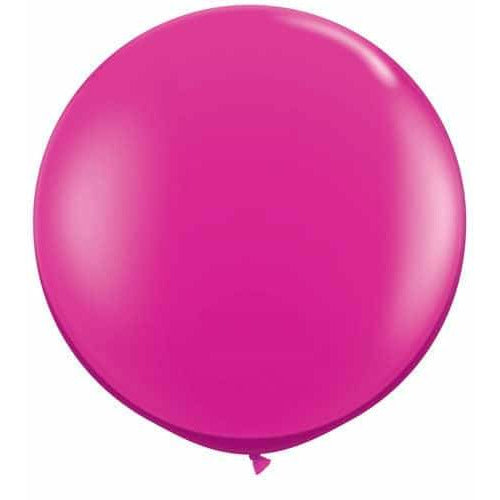 Jewel Magenta Giant Latex Balloons x2