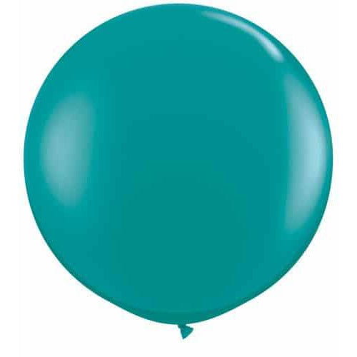 Jewel Teal Giant Latex Balloons x2