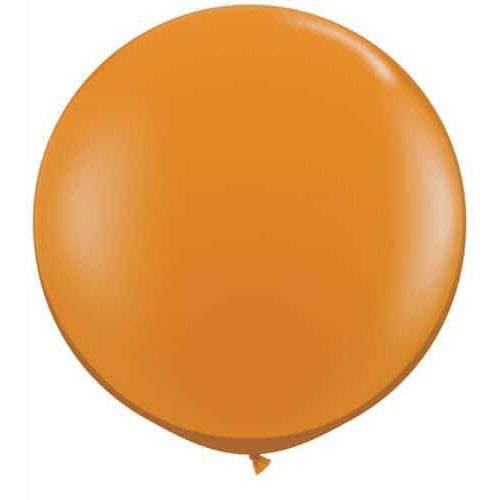 Mandarin Orange Giant Latex Balloons x2