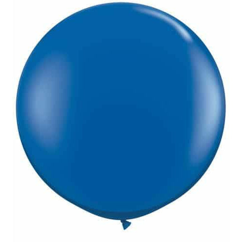 Sapphire Blue Giant Latex Balloons x2